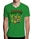 The Turtles Teenage Mutant Ninja Funny Logo Graphic Design Mens V-Neck T-Shirt