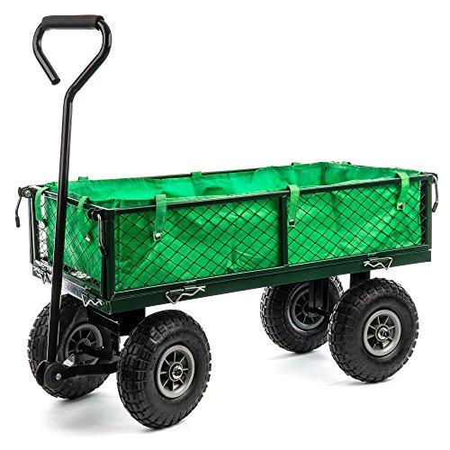 Berlan Metall Bollerwagen - maximal 300 kg - Seitenteile abnehmbar -