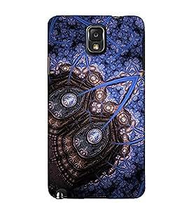 Fuson Designer Back Case Cover for Samsung Galaxy Note 3 :: Samsung Galaxy Note Iii :: Samsung Galaxy Note 3 N9002 :: Samsung Galaxy Note 3 N9000 N9005 (Blue designer pattern theme)
