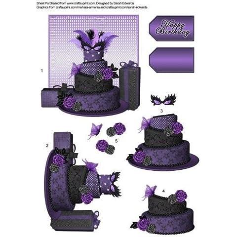 Maschera torta di compleanno da decoupage Sarah Edwards