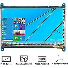 Makibes 7 Pulgadas Raspberry Pi Pantalla Táctil Capacitivo TFT LCD (C) 1024×600 HDMI Interfaz para Raspberry Pi/BB BLACK/PC,Banana Pi PC y Sistema de Windows 10 / 8.1 / 8/7 y OS