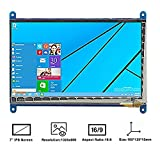 Makibes 7 Pulgadas Raspberry Pi Pantalla Táctil Capacitivo TFT LCD (C) 1024×600 HDMI Interfaz para Raspberry Pi/BB BLACK/PC,Banana Pi PC y Sistema de Windows 10 / 8.1 / 8/7 y OS