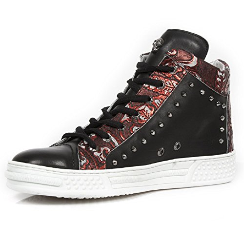 New Rock Pisa Rot Schuhe M.PS021-S1 Red Black