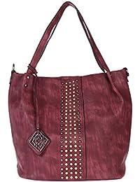 Fur Jaden Women's Handbag(Maroon,H296_Maroon)