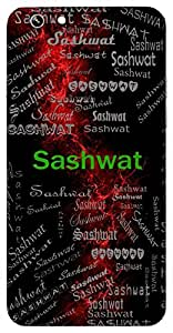 Sashwat (Eternal) Name & Sign Printed All over customize & Personalized!! Protective back cover for your Smart Phone : Moto G-4-Plus