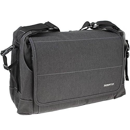 """Matin Clever 140FC Fototasche für 1 mittlere Kamera inkl. Objektiv, 2 Objektive und 12,3""""-Notebook (dunklgrau) - Weiterentwicklung der Balade Bag"""