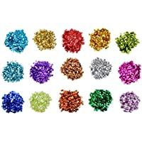 Yolito 150 Gramos Sueltas Lentejuelas de Taza Granel Sequins para Manualidades Artes, costura, decoración(6 mm, 15 Colores)