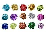Yolito 150 Grams Lose Pailletten Bulk Cup Sequin Iridescent Flitter für DIY Kunsthandwerk, Nähen, Festschmuck (15 Farben, 6 mm)