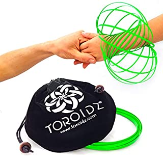 Toroidz® (Glow - Amazing Magic Flow Toy w/ Quality Velvet Travel Bag - Interactive Museum - 3D ARM RING - Science, Circus , Festival - All Ages Gift