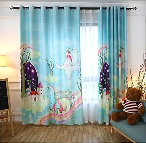 GYMNLJY Children's curtains 3D Animal Digital printing Shade cloth drape Pleat modern minimalist Window Drapes (1 panels) , 1