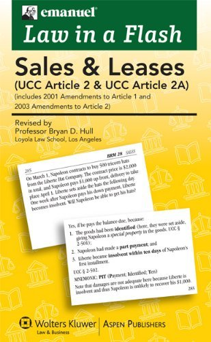 Law in a Flash: Sales UCC Article 2 by Lazar Emanuel (2009-09-09)