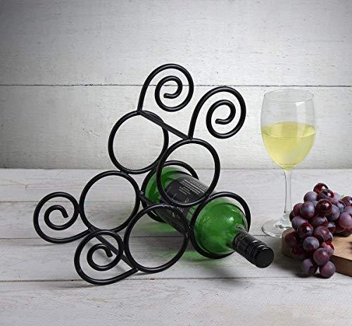 Handgefertigte Weinflasche Gestell, Wine Bottle Holder 3 Flaschenhalter Stehen Arbeitsplatte Schmiedeeisen Bar Zubehör Heim und Büro Dekor für die Einzugsparty Geschenke - Und Zubehör Home Dekor Bar