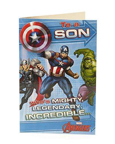 Carlton 789978-0Marvel Avengers Son Geburtstagskarte