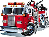 Stickersnews - Sticker enfant Camion de Pompier 3548 Dimensions - 30 cm...
