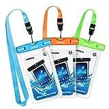 Wasserdichte Hülle, Mpow 3 Stück Wasserdichte Tasche, Handyhülle, Staubdichte Schutzhülle für iPhone X/XR/ XS/XS MAX/8/7/6splus/Galaxy S9/S8/S7/S7edge Huawei P10/P8/P9 HUAWEI bis 5,7 Zoll
