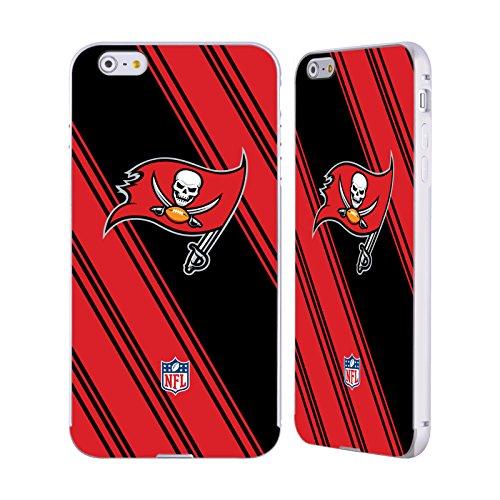 Ufficiale NFL Pattern 2017/18 Tampa Bay Buccaneers Argento Cover Contorno con Bumper in Alluminio per Apple iPhone 5 / 5s / SE Righe
