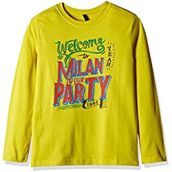 United Colors of Benetton Boys' T-Shirt (16A3096C12WIIK242Y_Yellow_2Y)