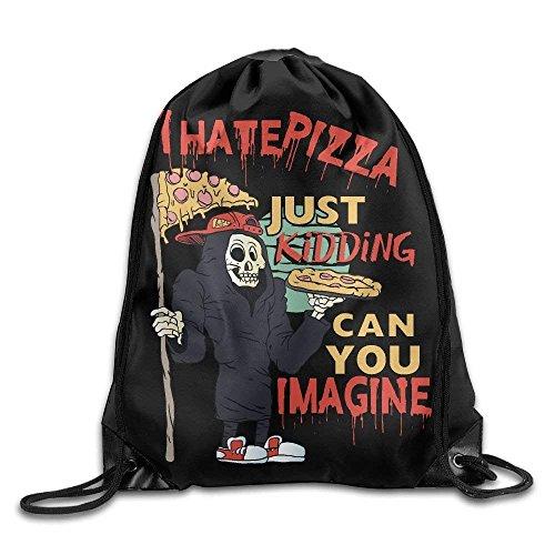 """Drawstring Backpack Art Design Print Rucksack Shoulder Bags Gym Bag Hip Hop Colorful Rainbow Flag Pattern Fruit Pineapple 17""""x14"""""""