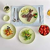 Vancasso, Natsuki Porzellan Speiseteller, 12 teilig Rund Teller Set, Ø 27 cm Große Flachteller, Bunt - 8