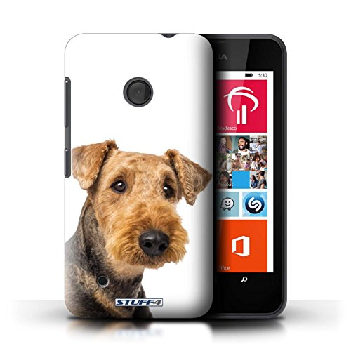Kobalt® Imprimé Etui / Coque pour Nokia Lumia 530 / Bull Terrier conception / Série Chiens Airedale Terrier