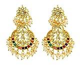 The Ravishing Multicolored Kundan Earrin...