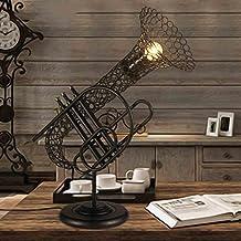 Lámparas de escritorio Estilo retro europeo de la antigüedad del viento industrial lámpara de mesa del restaurante Cafe lámparas de decoración estilo americano personalidad creativa Lámpara de escritorio de escritorio lámpara de mesa