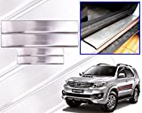 #6: Premium Quality Car Door Stainless Steel Scuff Plate Foot Steps For-Toyota Fortuner/N. Fortuner