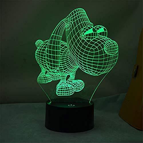 Luce Notturna Cane Animale Led 3D 7 Luci Notturne A Colori Luce Ambientale Lampada Da Scrivania Illuminazione Domestica Bulbing Cambio Colore Luminaria Regali Per Bambini Decorazioni Per Bamb