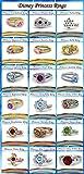 Vorra Fashion 925Sterling Silber 18Disney Princess inspiriert Verlobungsring Ringe, Eheringe, Ringe