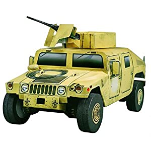 CLEVER PAPER- Keranova 163 Legendary Cars Collection Hummer HMMWV Puzle 3D