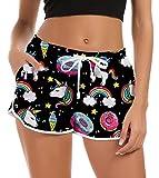 Fanient Short Femmes Mesdames filles Casual maillot de bain 3D graphique drôle...