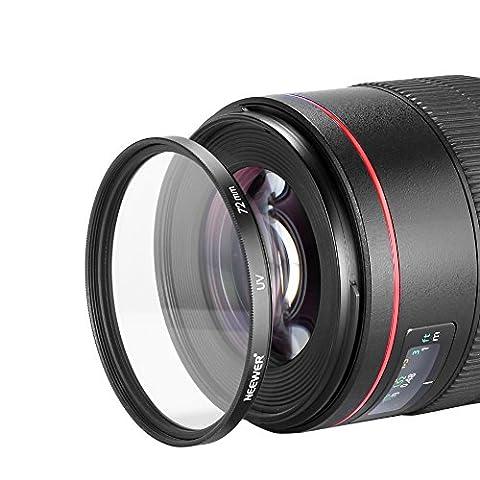 Neewer Filtre 72mm UV Objectif pour Nikon D40D60Objectif 18–200mm