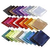Alumuk 30 Stück Einstecktuch einfarbig - Tuch Polyester Pochette Kavalierstuch Stecktuch für feierliche Anlässe in Verschiedenen Farben
