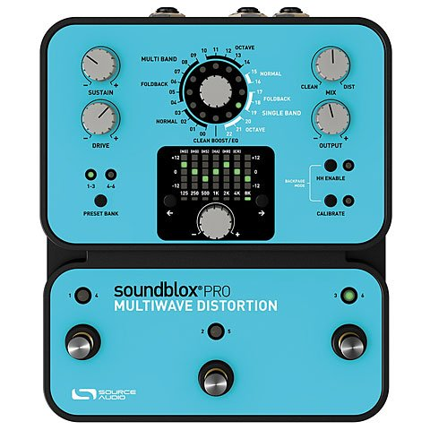 Source Audio Soundblox Pro Multiwave distorsions Pedal de efecto para guitarra azul