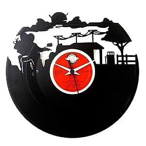 idea regalo motociclista, orologio in vinile vintage originale Vinyluse