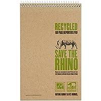 Save the Rhino - Cuaderno (200 x 127 mm, 80 hojas, 10 unidades)