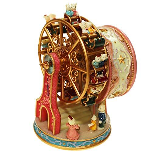 ZJ- à musique Boîte à Musique Happy Angel Ferris Wheel Boîte à Musique avec Cadeau de Noël tournant Garçon, Fille, Enfant, créativité