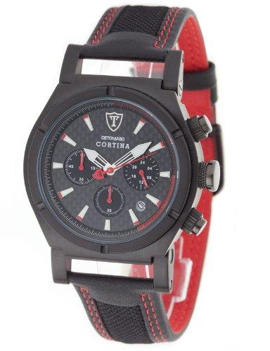 Detomaso Men's Quartz Watch DT1022-A with Leather Strap