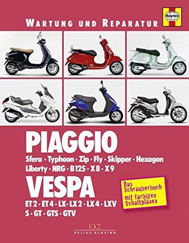 Preisvergleich Produktbild Piaggio / Vespa: Sfera, Typhoon, Zip, Fly, Skipper, Hexagon, Liberty, NRG, B125, X8, X9 / ET2, ET4, LX, GT