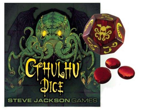 Steve Jackson Games 31321 - Cthulhu Dice Game mit Deutschen Spielregeln, rot/gelb