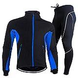 Rmine Herrren Winter Thermo Fahrradbekleidung Set Lang (Radjacke und Fahrradhose) Gr. M - 2XL