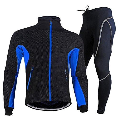 Rmine Herrren Winter Thermo Fahrradbekleidung Set Lang (Radjacke und Fahrradhose) Gr. M - 2XL Test