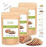 SlimBack - Lower Carb Landbrot Natur - 3er Pack (Ergibt ca. 1440g) - Brot Backmischung - Weniger Kohlenhydrate* | Glutenfrei | Ballaststoffreich | Eiweißreich | Sojafrei | Ohne Getreide