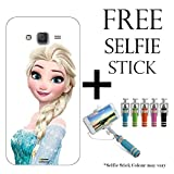 Hamee Disney Frozen Princess Licensed Hard Back Case Cover For iPhone Samsung Galaxy J7 – 2016 edition Cover with Free Selfie Stick Monopod – Combo 11