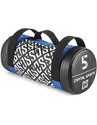 CAPITAL SPORTS Toughbag Power Bag Saco de arena 25 kg Cuero artificial (Entrenamiento fuerza resistencia, tiros, oscilaciones, empujes, revestimiento suave, 3 asas de nylon resistente)