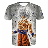 CHENMA Herren Dragon Ball 3D Drucken Kurzarm Pullover Normal Fit T-Shirt (XL, Farbe 9)