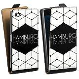 Sony Xperia Z5 Tasche Hülle Flip Case Hamburg Stadt Deutschland
