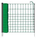 VOSS.PET Rete per recinzioni da pascolo di piccoli animali, elettrificabile, altezza 65 cm e 12 m di lunghezza, a punta singola, 9 pali neri, colore verde
