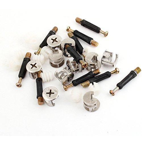 10 Sets Meubles côté de raccordement 15 x 14 mm Cam Vis de fixation cheville