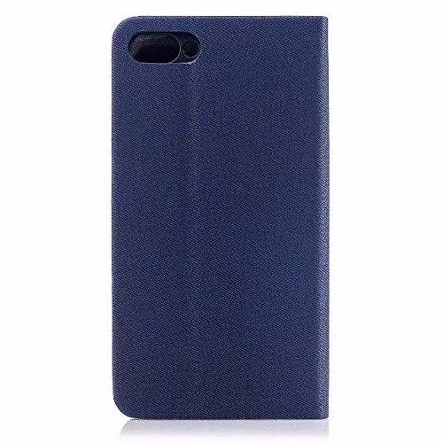 EKINHUI Case Cover Mischfarben Premium Synthetik PU Ledertasche mit Kartenfächern und Kickstand für Asus ZenFone 4 MAX ZC554KL ( Color : Gray ) Blue